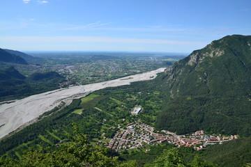 Tagliamento e Bordano (vista dal monte S.Simeone)