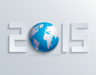 Vector modern new year 2015 background.