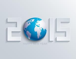 Vector modern new year 2015 background.