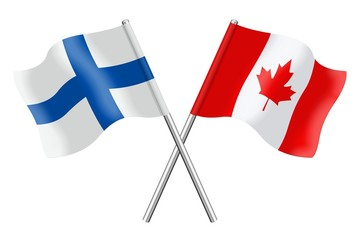Flags: Finland and Canada