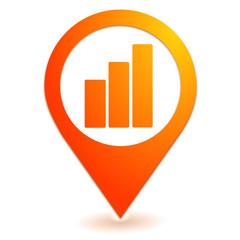 graphique sur symbole localisation orange