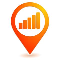 volume sur symbole localisation orange