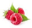 Raspberries isolated on white