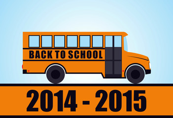 Back to school - yellow school bus