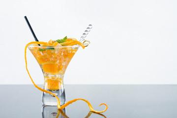 Orange Mojito over white background