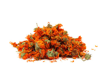Herbs. Dried calendula or pot marigold flowers.