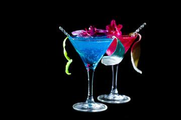 Blue Curacao cocktail - Molecular Mixology