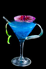 Blue Curacao cocktail  - Molecular Mixology