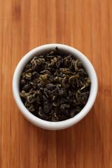Green tea in a bowl