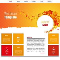 Flat Website Design (Autumn theme)