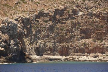 Cretan coastline in Gramvousa peninsula. Greece