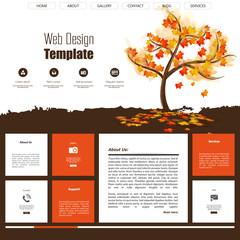 Autumn website design template