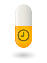 Pill with a clock