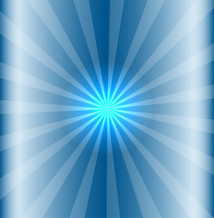 Blue background with lens flare