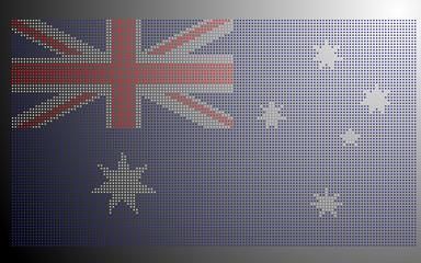 Pixel-styled Australia National Flag
