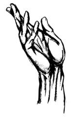 Hand drwan hand