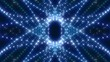 kaleidoscopic blue light, abstract loop motion background