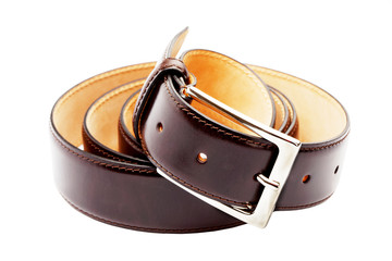 belt twisted into a ring