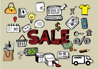 set shoping retail concept