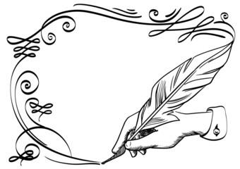 Hand drawing a flourish