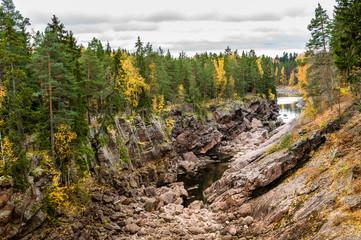 Autumn rocky canyon