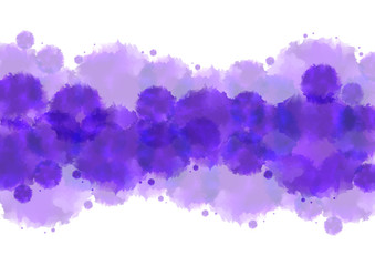 Watercolor splatters background