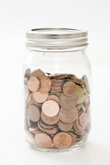 money in a jar