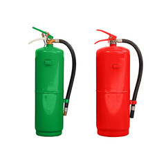 green and red chemical fire