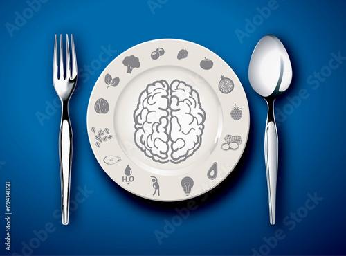 Vector illustrator of food for Brain - 69414868
