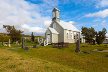 Old wooden Church in Reykholt