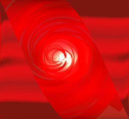 Fresh red spiral abstract design