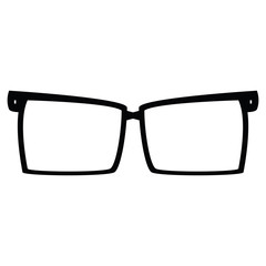 icon glasses on a white background