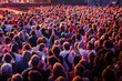 Leinwanddruck Bild - Foule public concert musique