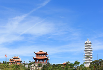 Beautiful pagoda with blue sky
