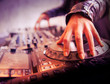 canvas print picture - Platine dj