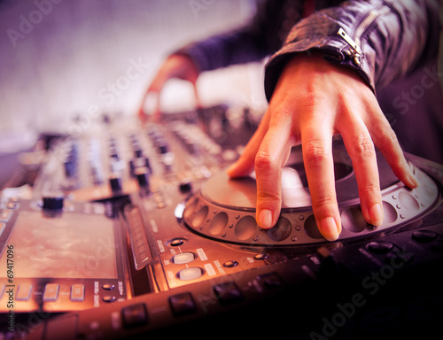 canvas print picture Platine dj