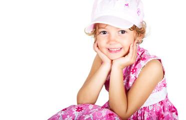 Bambina sorridente di 5 anni
