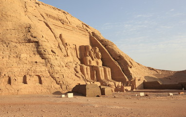The Great Temple of Ramesses II. Abu Simbel, Egypt.