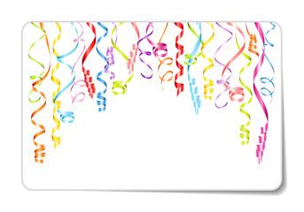 Gift Card Streamer Color