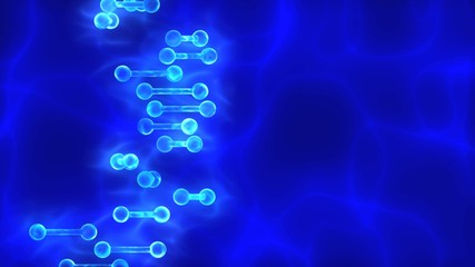 Blue DNA (deoxyribonucleic acid) background