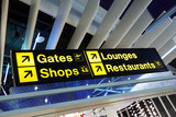 Airport terminal direction sign