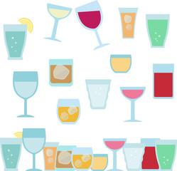 グラスに注がれたワインやカクテル