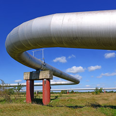 The high pressure pipeline.