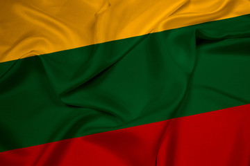 Waving Lithuania Flag