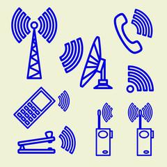 Set Icons of communication.