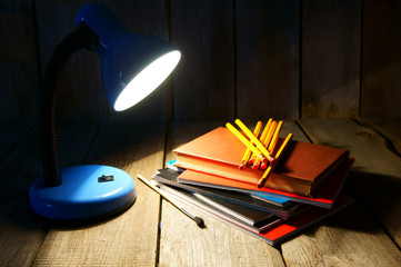 School tools and the fixture.