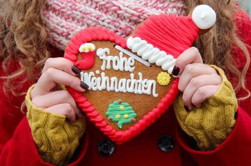 Lebkuchenherz zu Weihnachten
