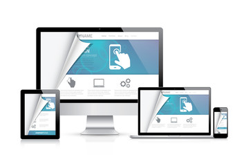 Website styling coding concept. Realistic vector illustration.