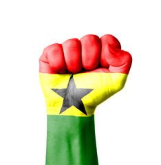 Fist of Ghana flag painted