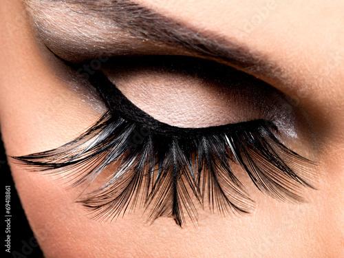 Leinwandbild Motiv Beautiful Eye Makeup